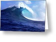 Waves Splashing In The Sea, Maui Greeting Card