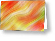 Wavy Colorful Abstract #5 - Yellow Orange Greeting Card by Patti Deters