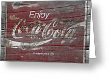 Weathered Coca Cola Sign Greeting Card