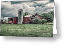 Weathered Worn And Standing Strong Greeting Card by Judy Hall-Folde