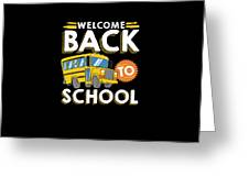 Welcome Back To School Kids School Bus Greeting Card