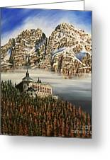 Werfen Austria Castle In The Clouds Greeting Card