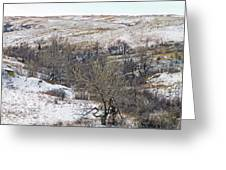Western Edge Winter Hills Greeting Card