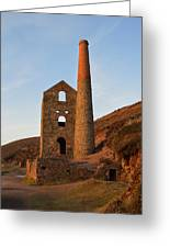 Wheal Coates Mine Chapel Porth Cornwall Greeting Card