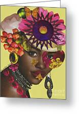 When African Eyes Are Smiling Greeting Card