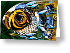 White Headed Mouth Fish Greeting Card