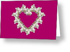 White Orchid Floral Heart Love And Romance Greeting Card by Rose Santuci-Sofranko