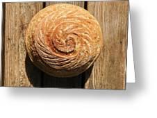 White Sourdough Spiral Greeting Card