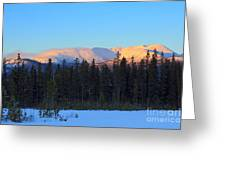 Whitehorse Winter Sunset Greeting Card