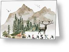 Wild Alaska Travel Poster Greeting Card by Celestial Images