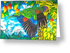 Wild Parrot Greeting Card