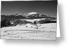 Wilson Mesa Winter Portrait Greeting Card