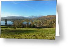 Windermere With Loughrigg Fell And The Langdales From Ambleside Greeting Card