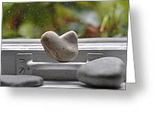 Window Hearts 2 Greeting Card