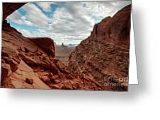 Window On The Desert Greeting Card