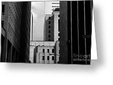 Windows, Montreal, Quebec, Canada Greeting Card