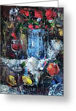Wine And Fruits Greeting Card