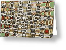 Wine Corks At An Angle Abstract Greeting Card