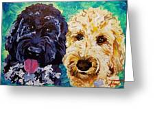 Winston And Ruby Greeting Card