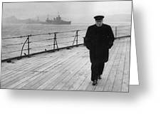 Winston Churchill At Sea Greeting Card