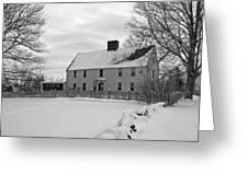 Winter At Noyes House Greeting Card by Wayne Marshall Chase