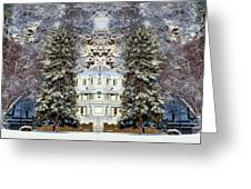 Winter At The Susanville Elks Lodge Greeting Card