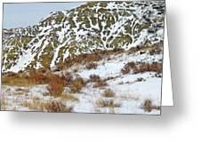 Winter Badlands Greeting Card
