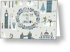 Winter In London Greeting Card