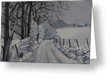 Winter Lane Greeting Card