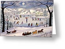 Winter Skating Greeting Card