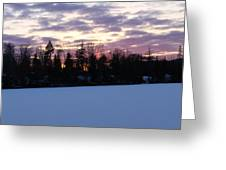 Winter Sunsets Greeting Card