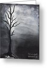 Winter Tree At Night.  Greeting Card