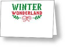 Winter Wonderland Christmas Secret Santa Snowing On Christmas Greeting Card