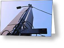 Wired Wilshire Downtown Greeting Card