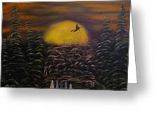 Witch At Night Greeting Card by Jim Lesher