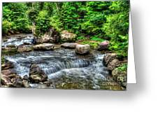 Wolf Creek Falls, New River Gorge, West Virginia Greeting Card