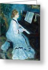 Woman At The Piano Greeting Card