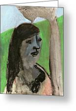 Woman By A Tree Greeting Card