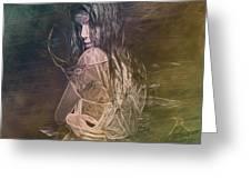 Woman In Distress Greeting Card