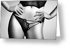 Woman In Lingerie Greeting Card
