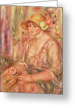 Woman In Muslin Dress, 1917 Greeting Card