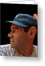 Wood Carving - Babe Ruth 002 Profile Greeting Card