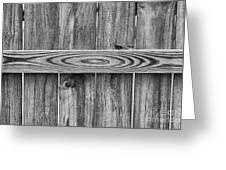 Wood Grain Black And White Greeting Card