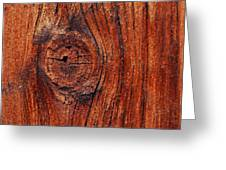 Wood Knot Greeting Card by ISAW Company