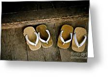Wood Sandals Greeting Card