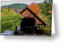 Woodstock Middle Bridge In October Greeting Card by Jeff Folger