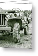 World War II Era Us Army Jeep Greeting Card