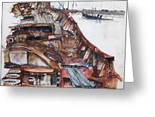 Wreckrust Greeting Card by Tim Johnson
