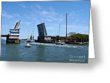 Wrightsville Beach Bridge In North Carolina Greeting Card