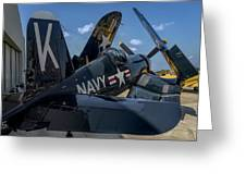 Ww2 F4u Corsair  Greeting Card
